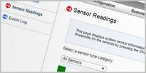 Prikaz senzora na dedicated serveru