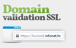 Domain validation SSL certifikati