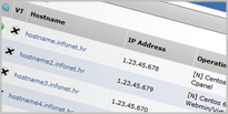 Popis virtualnih servera